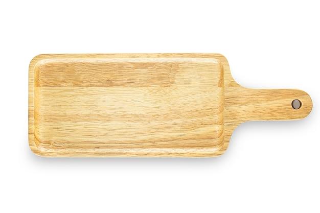 Handgemaakte lege houten snijplank geïsoleerd
