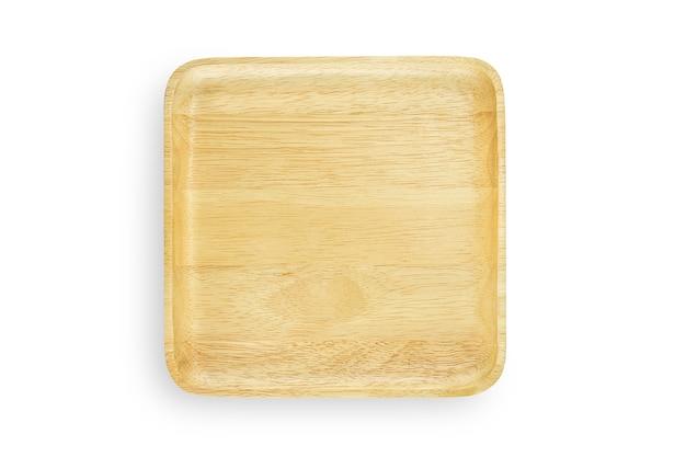 Handgemaakte lege houten vierkante plaat