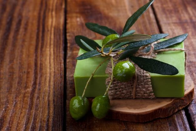 Handgemaakte olijfoliezeep