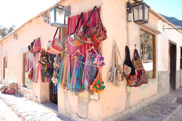 Handgemaakte textuur winkel in de provincie salta.