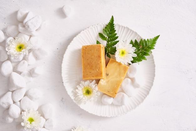 Handgemaakte zeep close-up.spa producten