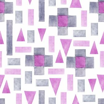 Handgeschilderd patroon van geometrische vormen