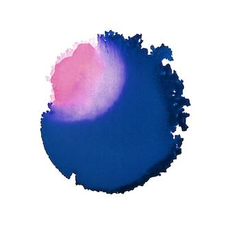 Handgeschilderde abstracte ronde vorm. alcoholinkt schilderij. moderne hedendaagse kunst