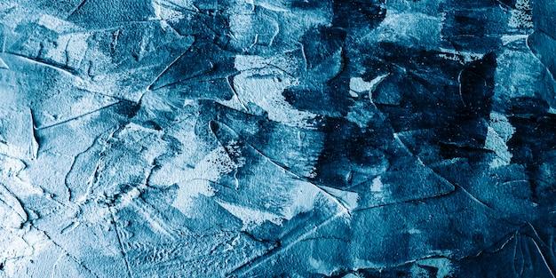 Handgeschilderde abstracte witte en blauwe steen textuur achtergrond