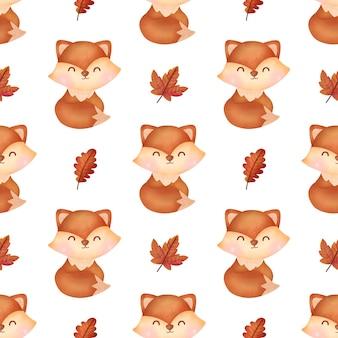 Handgetekende herfstpompoenen naadloze patronen