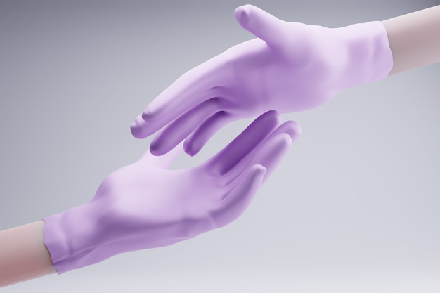 Handschoenen 3d chirurgie kliniek bescherming gezondheidszorg