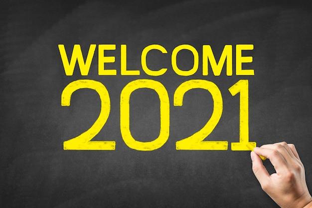 Handschrift 2021 op bord, welkom in 2021
