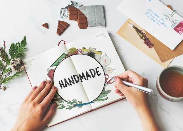 Handwerk handgemaakte diy vaardigheden tekenen