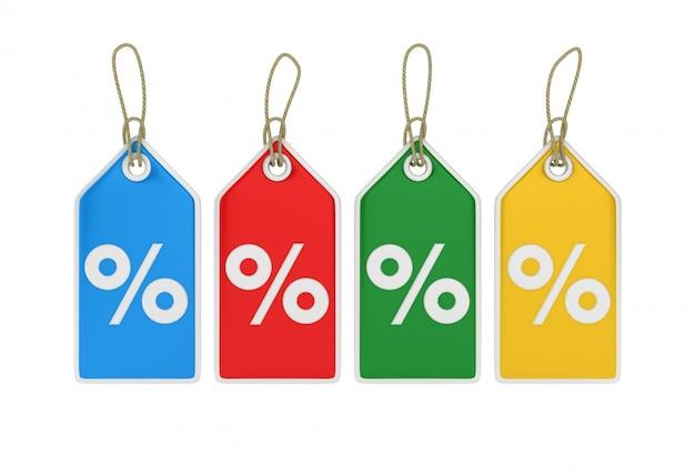 Hangend prijskaartje percentage sign