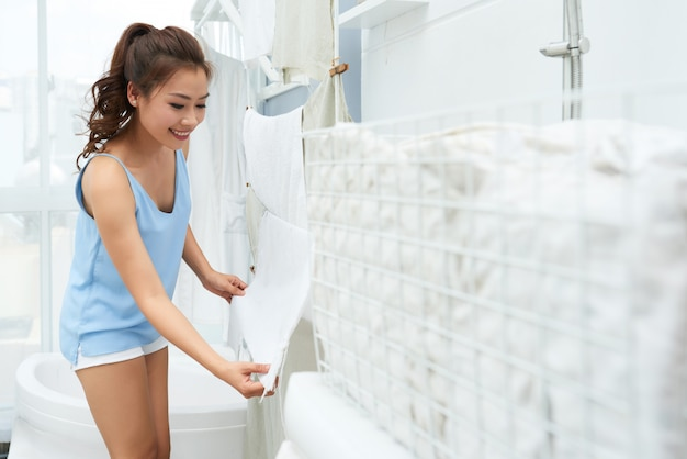 Hangende handdoeken