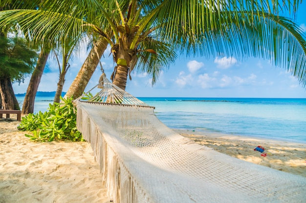 Hangmat op het strand