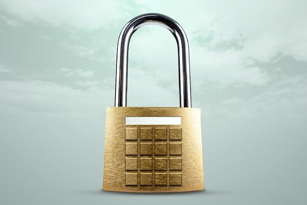 Hangslot en wachtwoord en inlogvelden