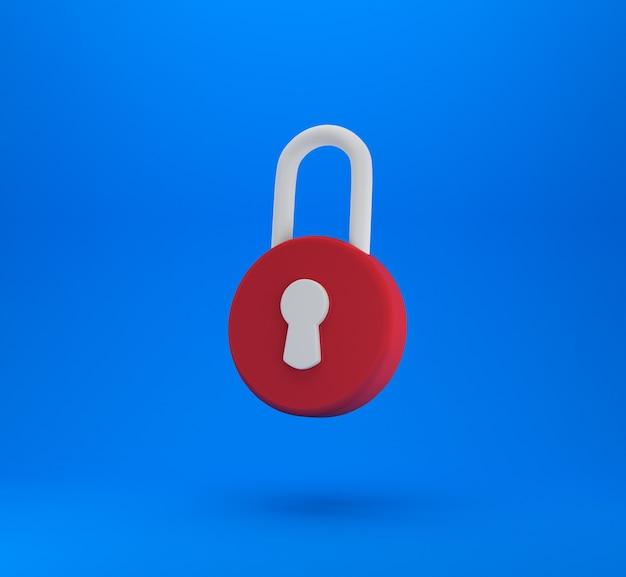 Hangslot teken. beveiliging, veiligheid, bescherming, privacyconcept.