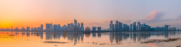Hangzhou moderne stad architectuur landschap skyline