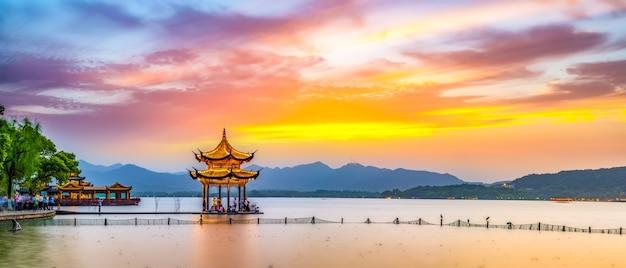 Hangzhou west lake prachtig landschap