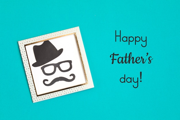Happy fathers day wenskaart flyer, uitnodiging, feest of poster