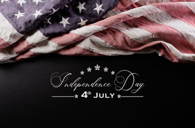 Happy independence day withamerican vlag