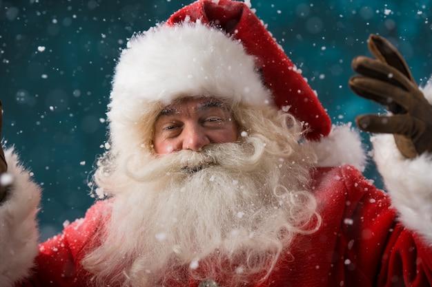 Happy santa claus lachen