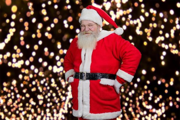 Happy santa claus op slingers achtergrond.