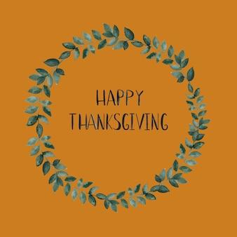 Happy thanksgiving krans kaart