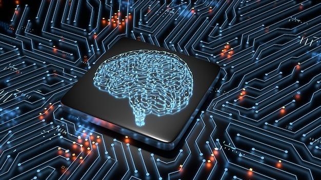 Hardware concept van kunstmatige intelligentie.