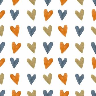 Hart aquarel naadloos patroon