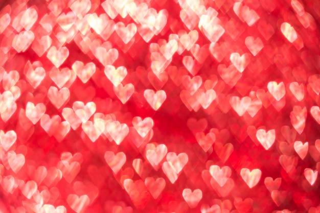Hart bokeh achtergrond, de dagachtergrond van valentine