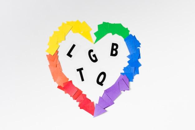 Hart in regenboog kleuren concept