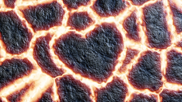 Hart lava achtergrond