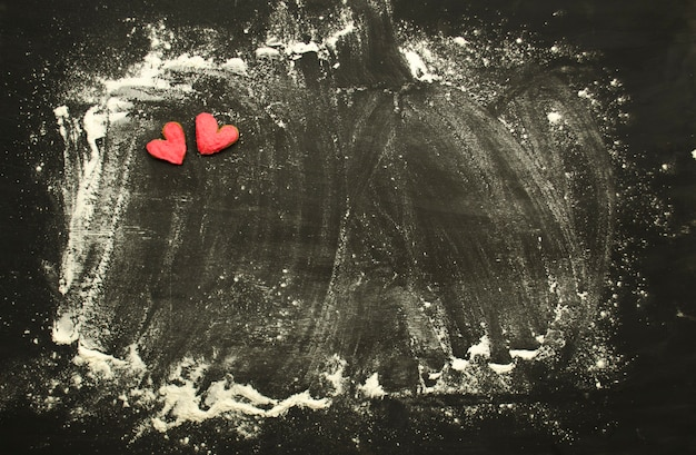 Hart liefdes koekje. valentijnsdag cookies. hartvormige koekjes