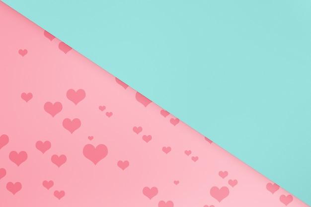 Hart met een gekleurde achtergrond. valentijnsdag