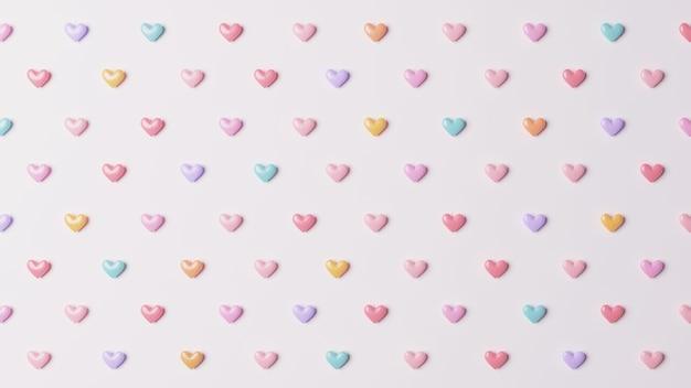 Hart pastel kleur patroon achtergrond