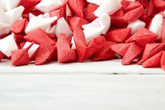 Hart Wit en Rood papier geen hout
