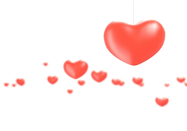 Hartgezondheid en liefdeconcept - 3d illustratie