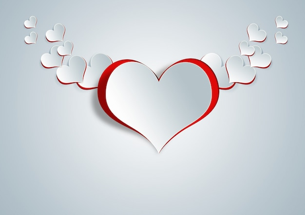Hartvorm op papier ambacht