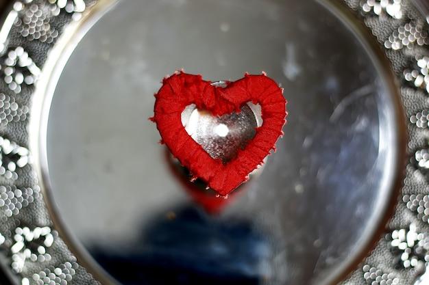 Hartvorm zilver rood