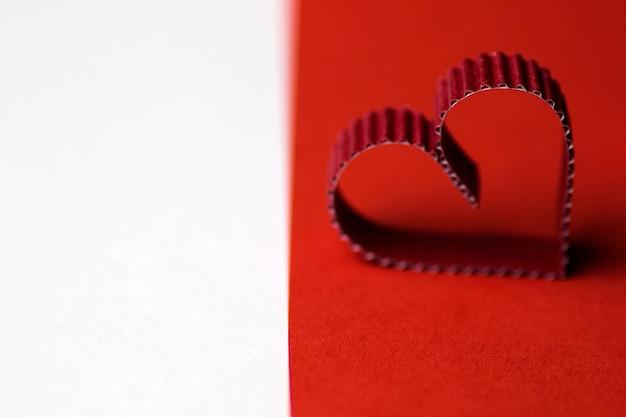 Hartvormig papier rood