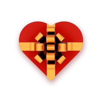 Hartvormige geschenkdoos Premium Foto