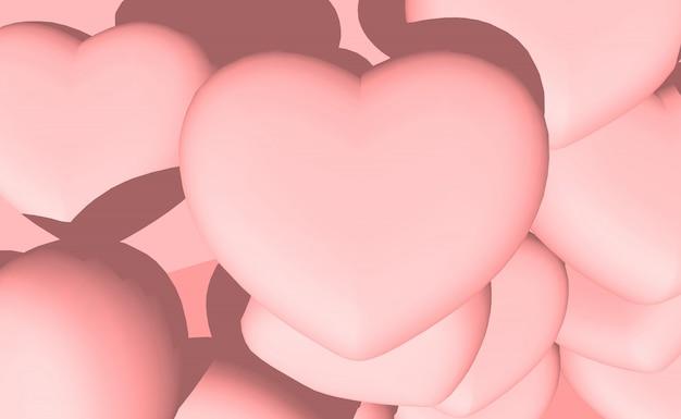 Hartvormige illustraties voor valentijnskaarten en bruiloften