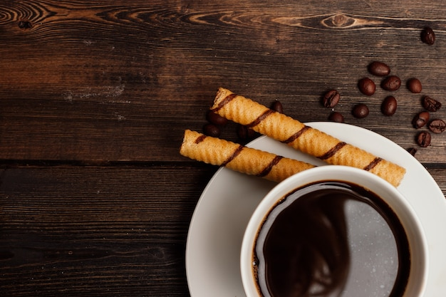 Hartvormige koekjes dessert snoepjes koffiemaaltijd ontbijt. hoge kwaliteit foto