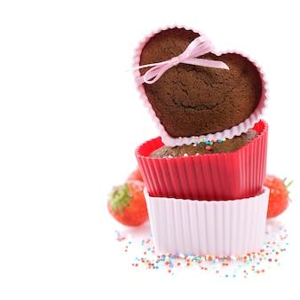 Hartvormige muffins