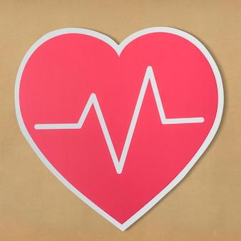 Hartziekte geneeskunde uitgesneden pictogram
