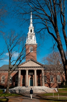 Harvard memorial church in boston, massachusetts, verenigde staten