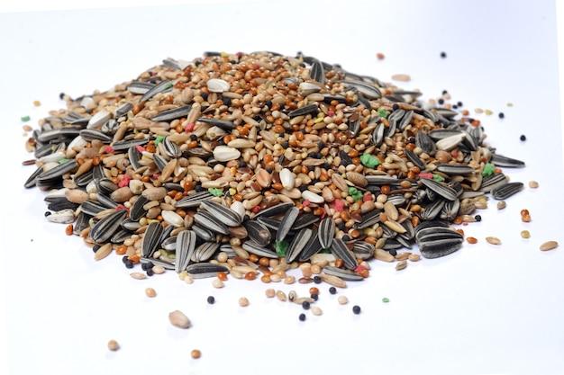 Heao voedsel mix van parkieten; dwergpapegaai; papegaai… Premium Foto
