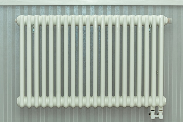 Heating radiator, white radiator in een appartement