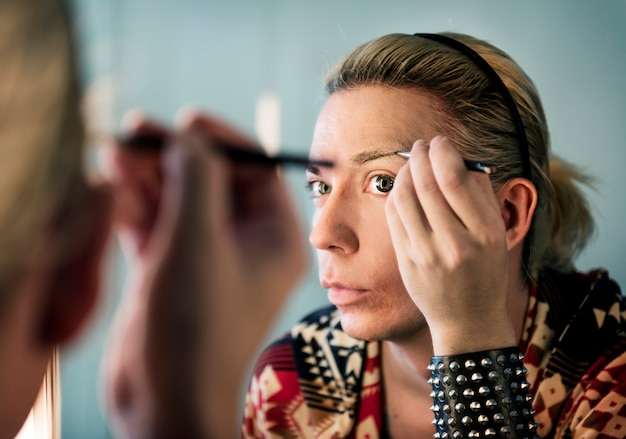Hedendaagse fotoshoot van een transgendervrouw
