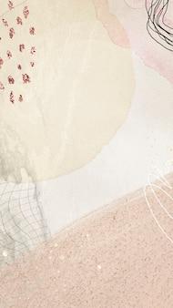 Hedendaagse memphis getextureerde mobiele telefoon behang illustratie