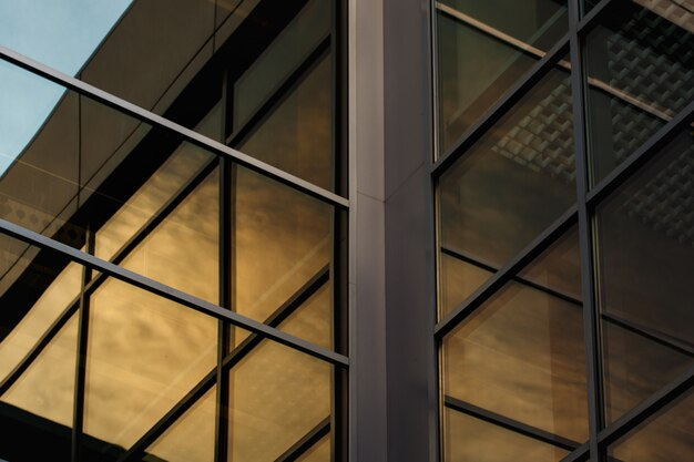 Hedendaagse moderne kantoorgebouwconstructie