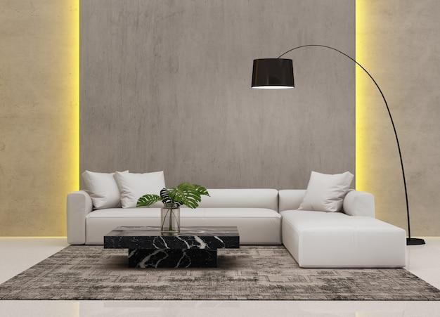 Hedendaagse moderne woonkamer met wandsysteem