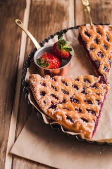Heerlijk dessert dat met rietsuiker verfraait